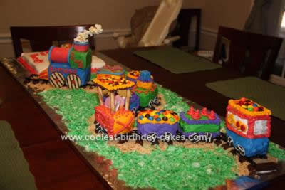 Homemade Train Birthday Cake Design