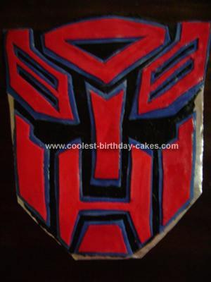 Transformer Birthday Cakes Homemade