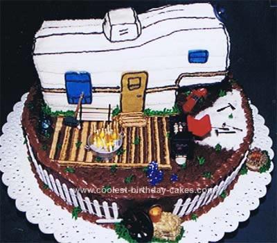 Homemade Travel Trailer Retirement Cake