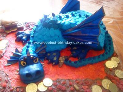 Homemade Treasure Dragon Cake