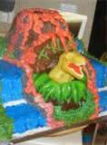 Homemade T-Rex Dinosaur Cake