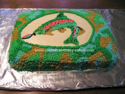 Fish Birthday Cakes on Coolest Trout Fish Birthday Cake 54