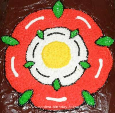 Homemade Tudor Rose Birthday Cake