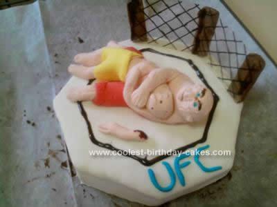 Homemade UFC Octagon Cake