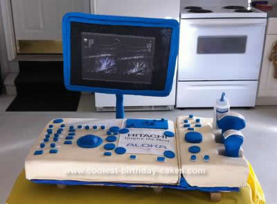 Homemade Ultrasound Cake