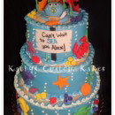 Under the Sea Scene Birthday Cakes