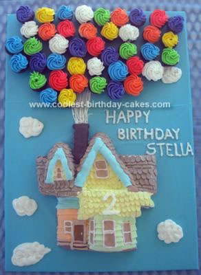 Homemade Up House Birthday Cake