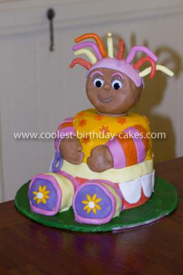 Homemade Upsy Daisy 3D Birthday Cake