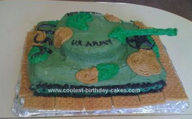 Homemade US Army Tank Cake
