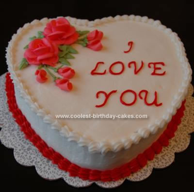 Love Shape Cake Decoration : Valentines Cakes 4