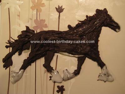 Homemade Vegan Chocolate Horse Decoration for a Cake