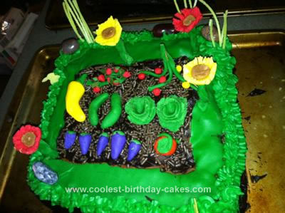 Homemade Vegetable Garden Cake