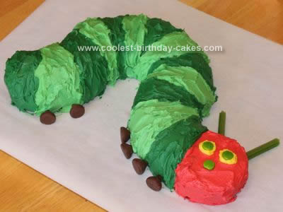 Homemade Very Hungry Caterpillar Cake