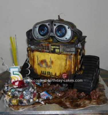 Homemade Wall E 3D Birthday Cake Design