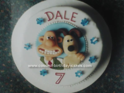 Homemade Wallace and Gromit Cake