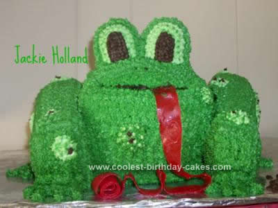 Homemade Warty Toad Cake