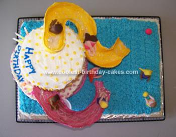 Homemade Water Slide Birthday Cake