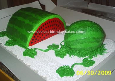 Homemade Watermelon Cake