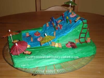 Homemade Waterslide Cake Design