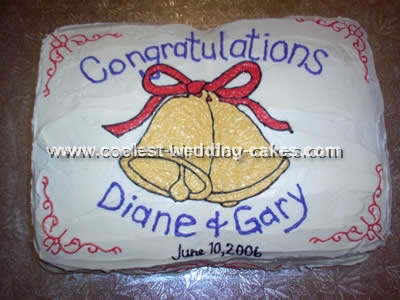 Homemade Wedding Bells Cake