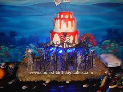 Homemade Wedding Halloween Cake Idea