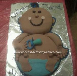 Homemade Welcome Baby Cake