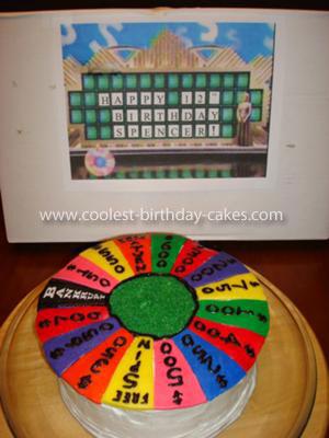 Homemade  Wheel of Fortune Birthday Cake