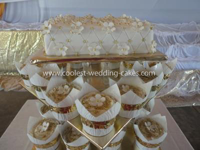 Coolest White and Gold Wedding Cupcakes