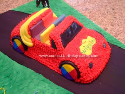 I made this Wiggles Big Red Car Cake for my daughter's second birthday