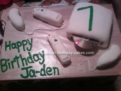 Homemade Wii Birthday Cake Design