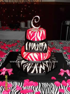 Zebra Print Birthday Cakes on Coolest Wild Wedding Zebra Print Cake 7