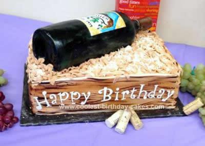 Homemade Wine Lover Cake