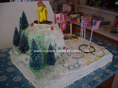 Coolest Winter Olympics Themed Cake 3