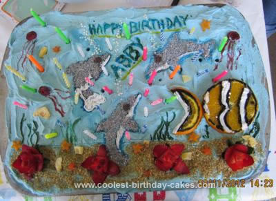 Homemade Winter the Dolphin Birthday Cake
