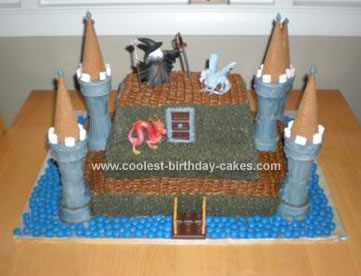 Homemade Wizard Castle Cake