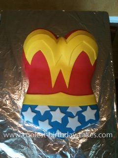 Peachy Coolest Wonder Woman Birthday Cake Personalised Birthday Cards Bromeletsinfo