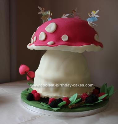 Homemade Woodland Fairy Cake