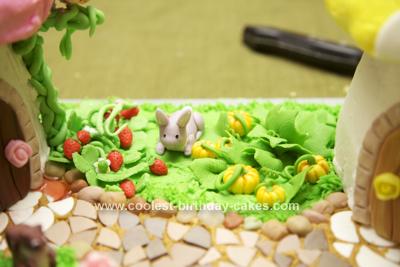 Homemade Woodland Mushroom Twins Cake