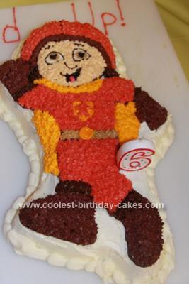 Homemade Wordgirl Birthday Cake