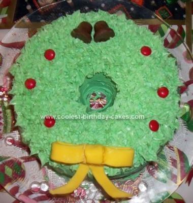 Homemade Wreath Cake