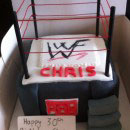 Wrestling Birthday Cakes