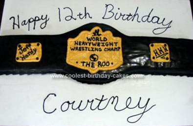 Birthday Cake on Coolest Wwe Belt Birthday Cake 12