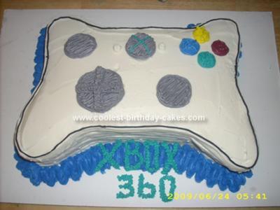 Homemade Xbox 360 Controller Cake