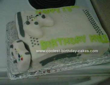 Homemade X-box Cake