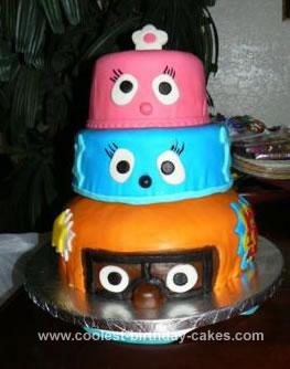 Homemade Yo Gabba Gabba  Birthday Cake