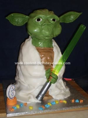 Homemade Yoda Birthday Cake