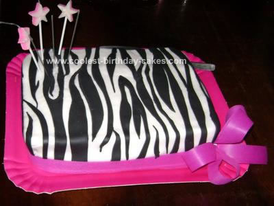 Zebra Print Birthday Cakes on Coolest Zebra Print Cake 2