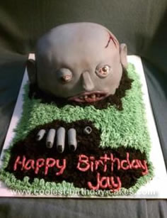 Homemade Zombie Birthday Cake