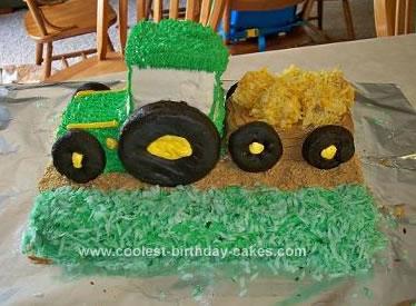 Homemade Hauling Tractor Cake