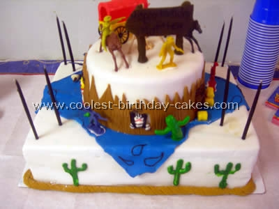 Cowboy Birthday Cake Photo